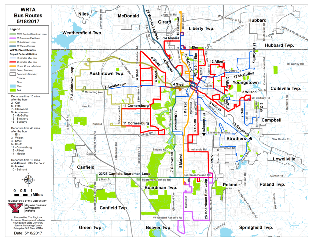 maps & schedules | western reserve transit authority: wrta