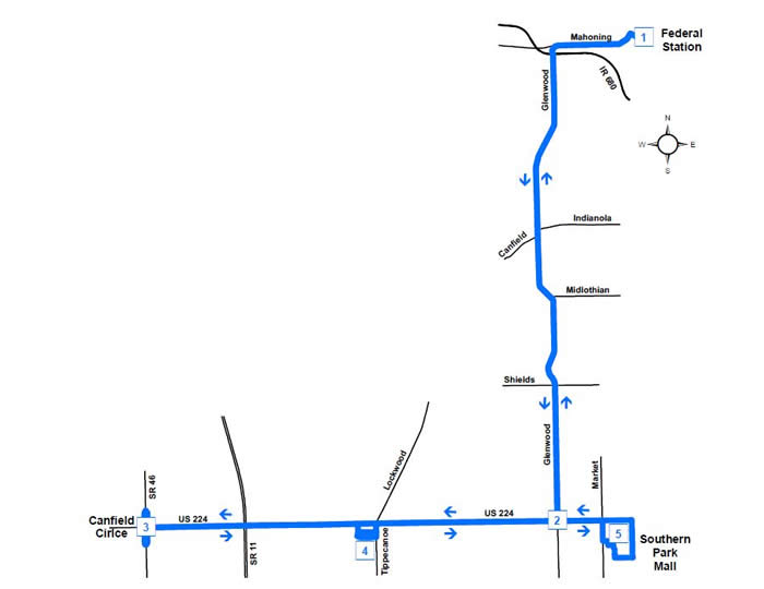 Route #51 & 52 Canfield Loops