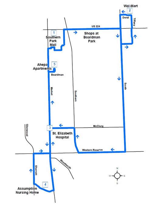 Route #54 Boardman East Loop