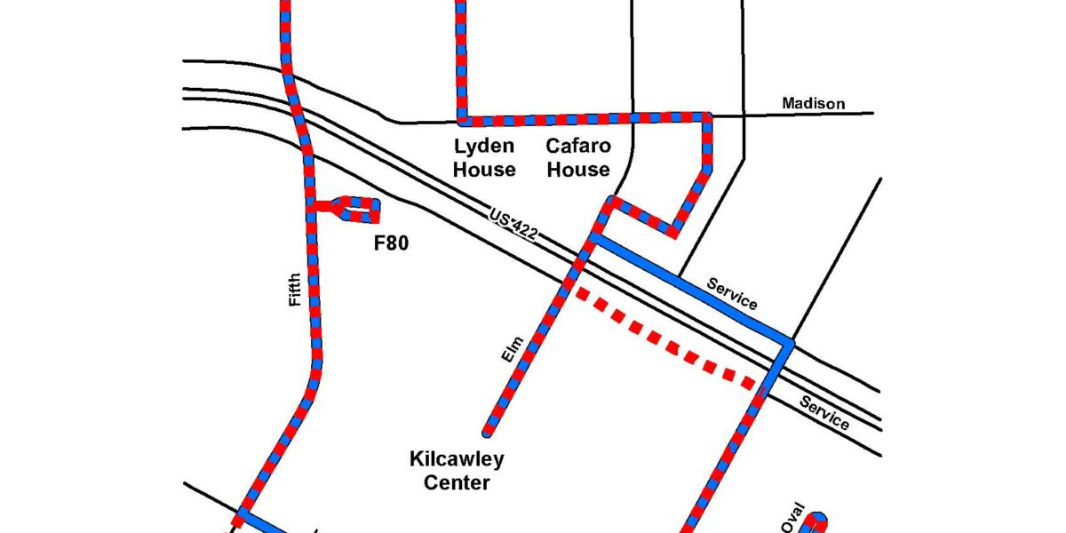 Route #56 and Route #57 YSU White/Red Loop | Western Reserve Transit on