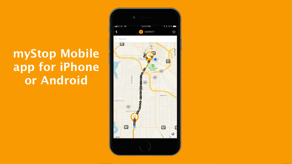New myStop Mobile App Helps You Track Buses, Plan Your Trips