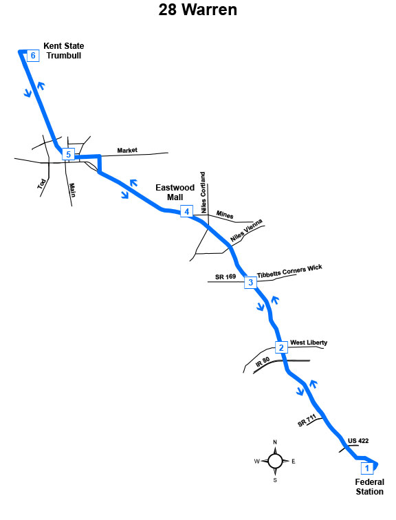 Route #28 Warren Express (Mon – Fri)