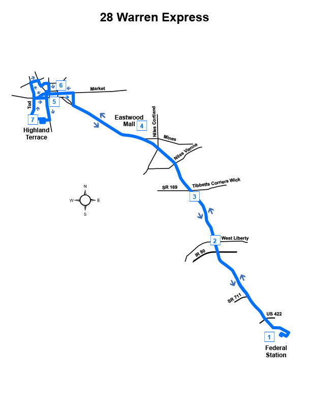 Route #28 Warren Express (Sat)