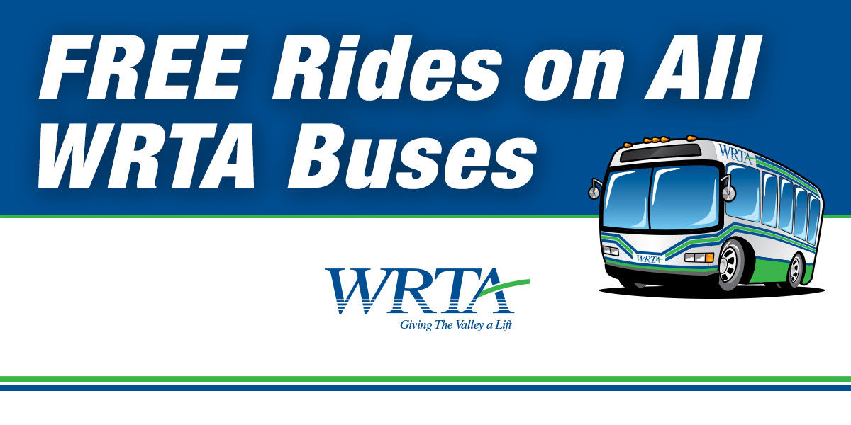 Free Fares on ALL WRTA Buses Until Further Notice