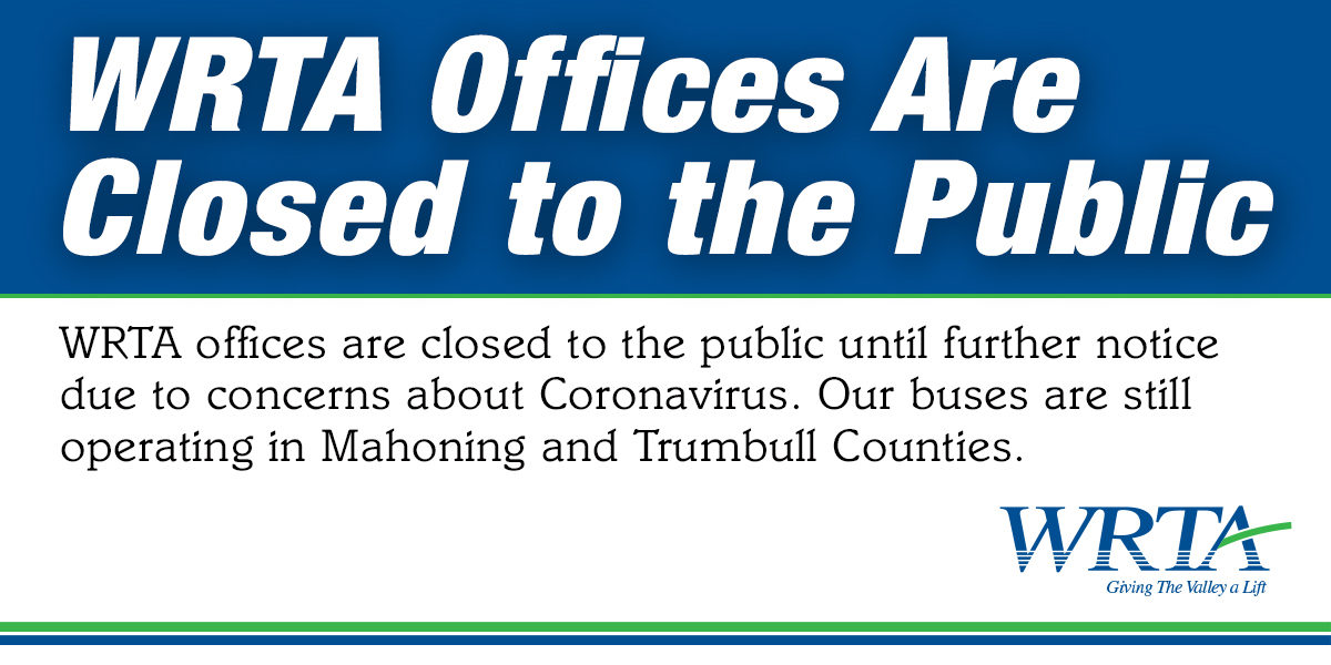WRTA Offices are closed to the public