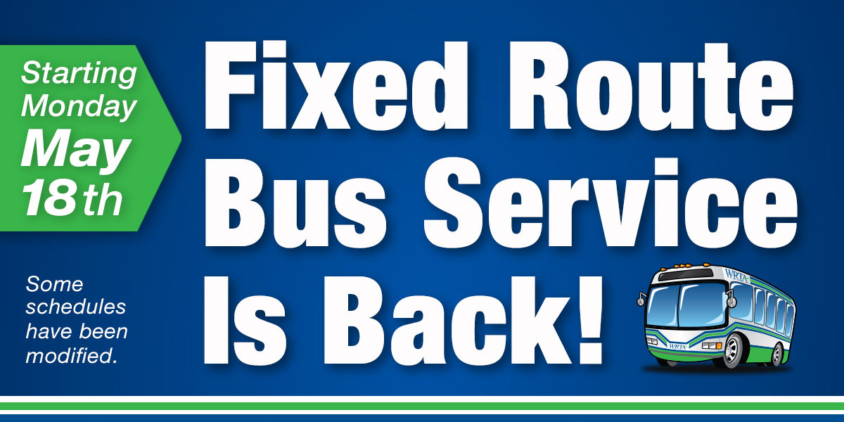 Fixed Route Bus Service is Back!