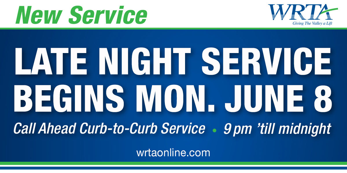 Late Night Service Begins June 8th