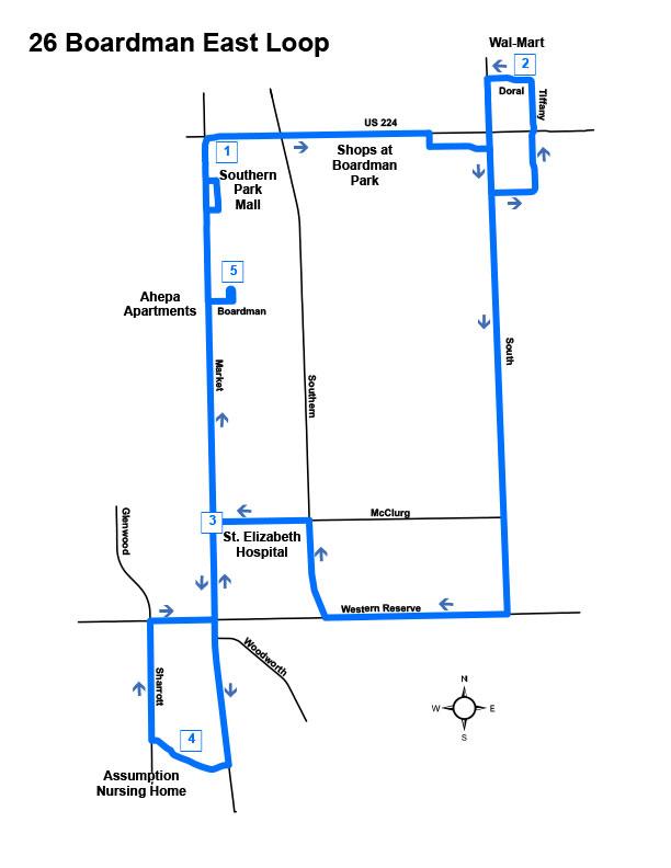 Route #26 Boardman East Loop